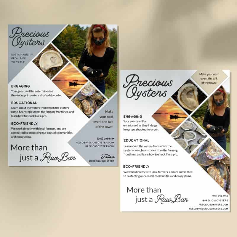 Precious Oysters Promotional Flyers by Katie Peterson Rivera