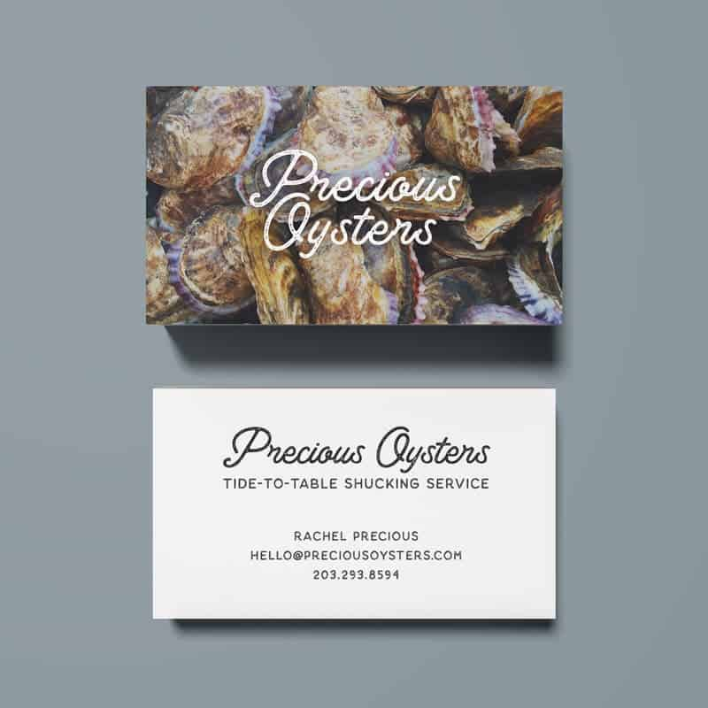 Precious Oysters Business Cards by Katie Peterson Rivera