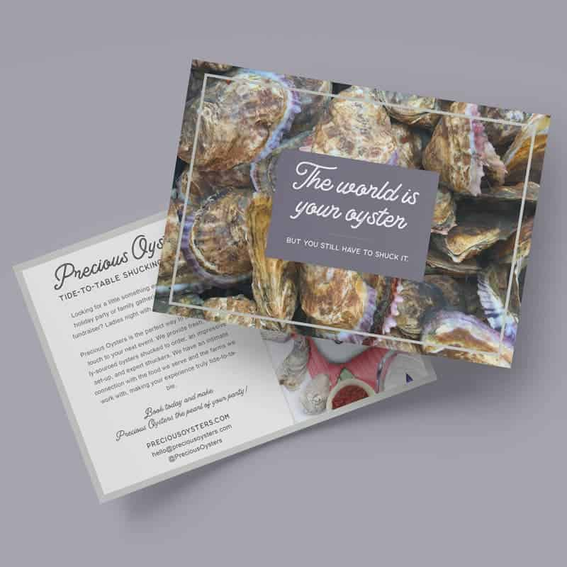 Precious Oysters Event Cards by Katie Peterson Rivera